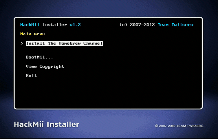 Install the Homebrew Channel